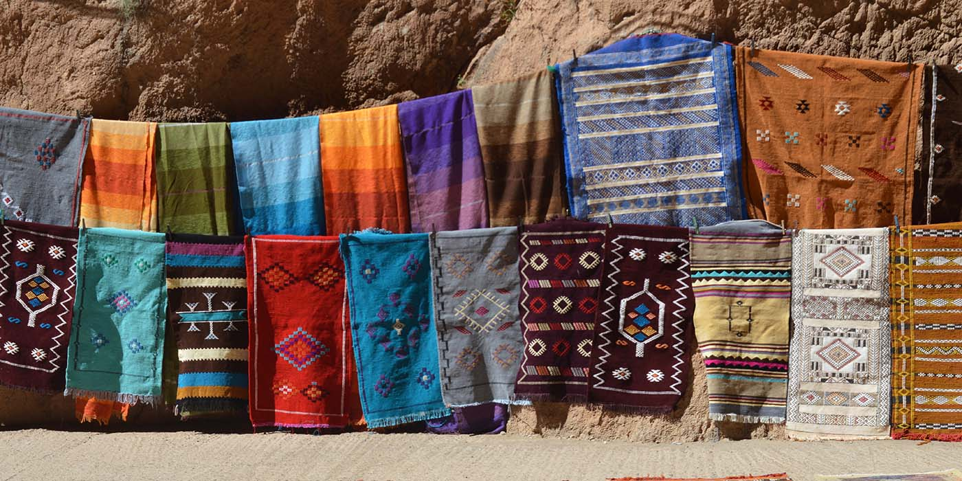 Todgha Gorge, Morocco, Berber rugs