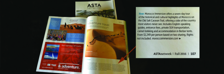 adventure travel, morocco immersion, ASTA Network