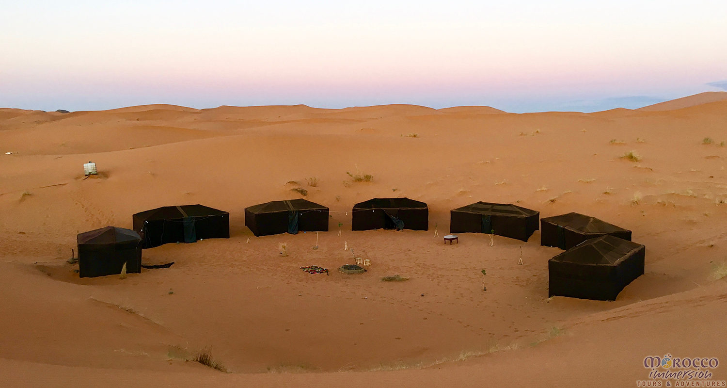 Desert Camp at Dawn Complete